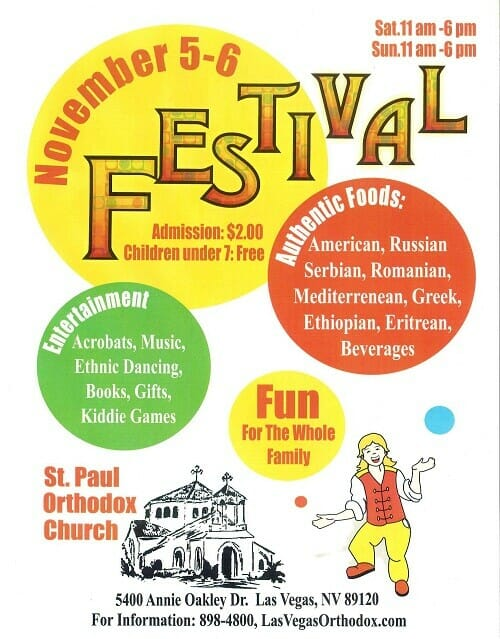 Church Festival fundraiser