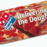 Dominos Pizza fundraising card