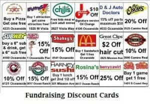 Fundraising Discount Cards