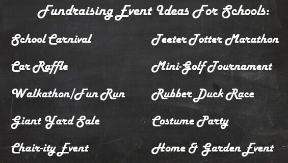 Fundraising event ideas for elementary schools