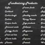 Fundraising products list