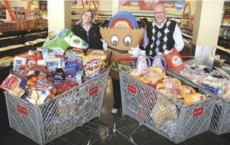 Grocery shopping spree fundraiser