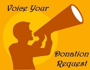 Voice Your Donation Request