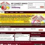 Online charity bingo website