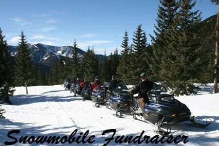 Snowmobile fundraiser rally