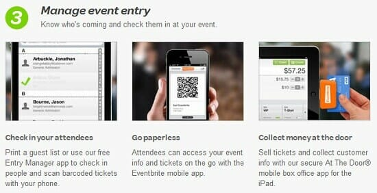 Eventbrite provides event management tools