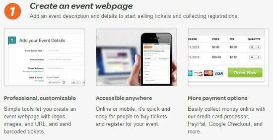 Eventbrite.com event webpage