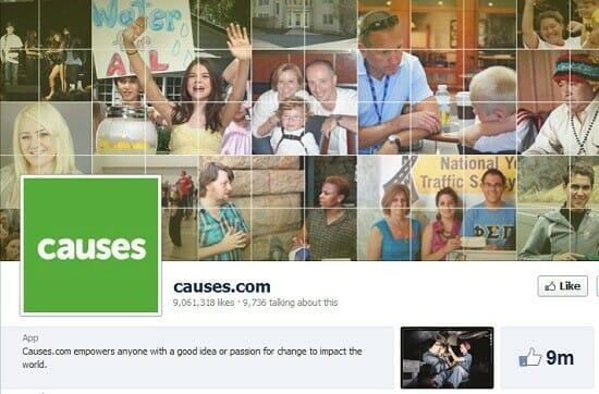 Fundraising Online using Causes.com