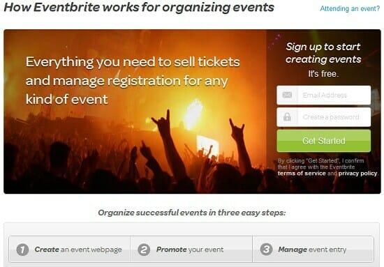 Fundraising online using Eventbrite.com