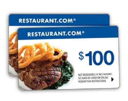 Fundraising Restaurant.com gift cards