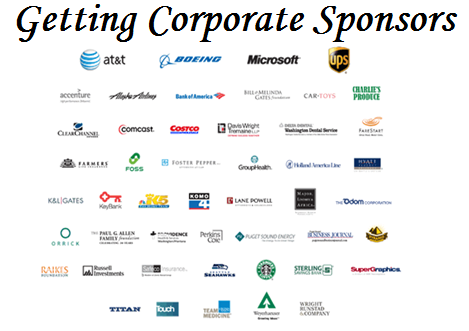 Getting corporate sponsors