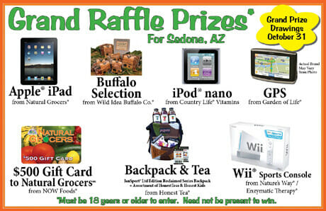sample raffle prizes flyer