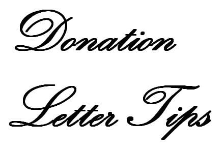 Sample Donation Request Letter - Fundraiser Help