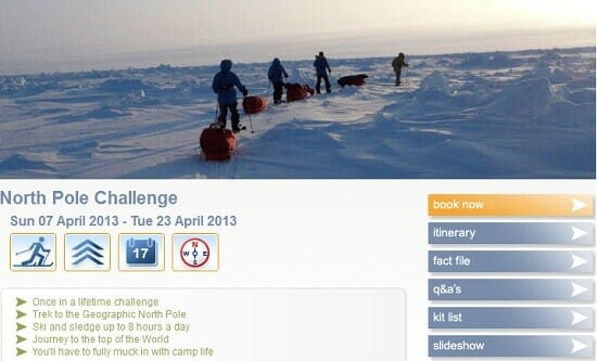 Fundraising challenges: North Pole trek