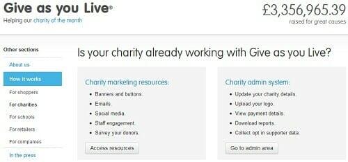 Fundraising Online: GiveAsYouLive.com