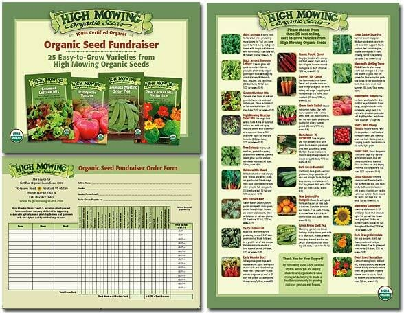 Organic seeds fundraiser order form