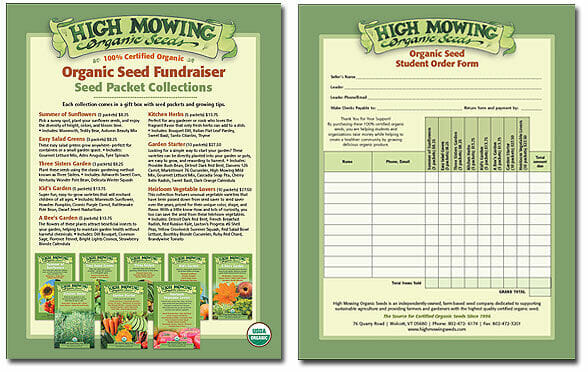 Organic seeds fundraising collections