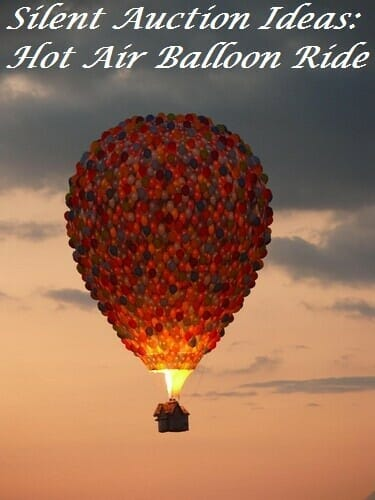 Silent Auction Ideas: Balloon Ride