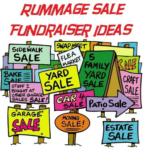 Rummage Sale Fundraiser Ideas