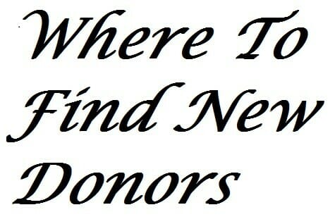 Where To Find New Donors