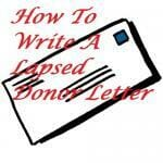 How To Write A Lapsed Donor Letter