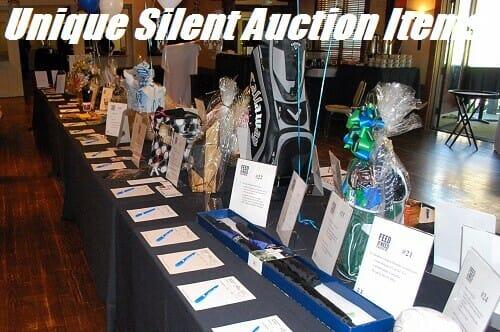 unique silent auction items ideas