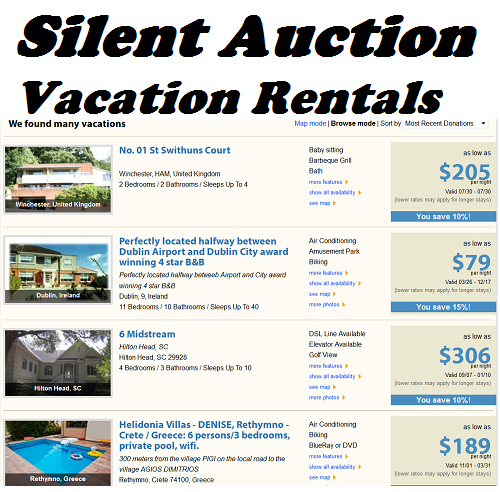 Silent Auction Ideas: Vacation Rentals