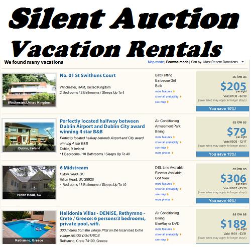 Silent Auction Ideas: Vacation Rentals