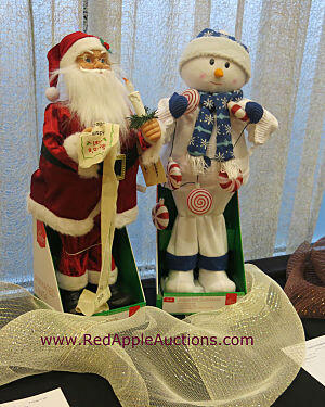Silent auction item ideas - Santa and snowman
