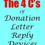 The 4 C's Of Donation Letter Reply Devices
