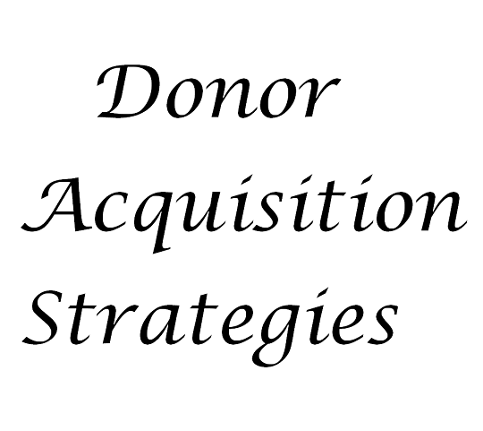 Donor Acquisition Strategies