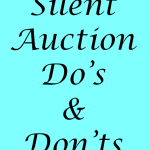 Silent Auction Do's & Dont's