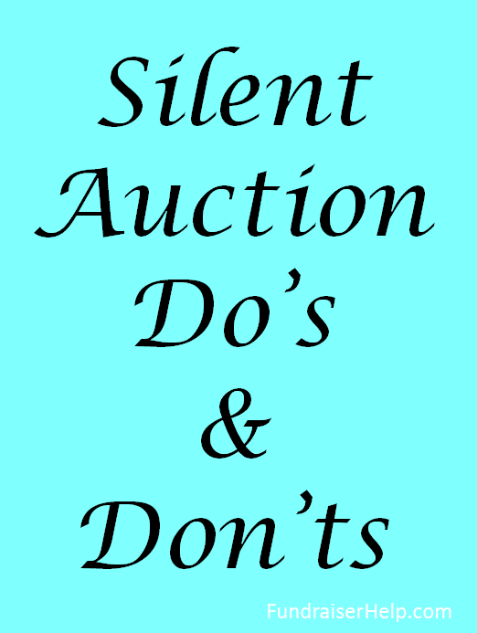 silent auction dos donts