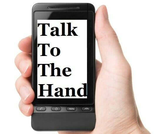 Mobile Fundraising: Talk To The Hand