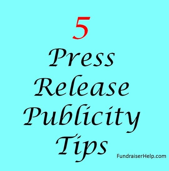 5 Press Release Publicity Tips
