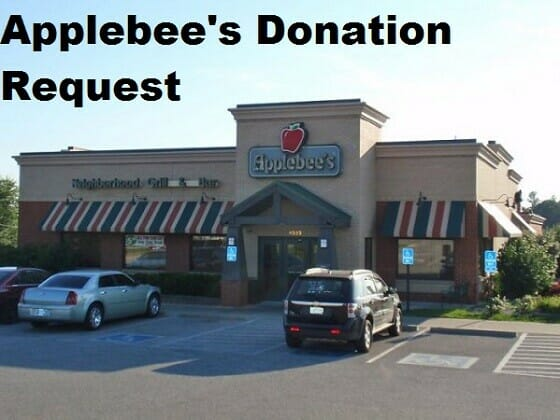 Applebee's Donation Request