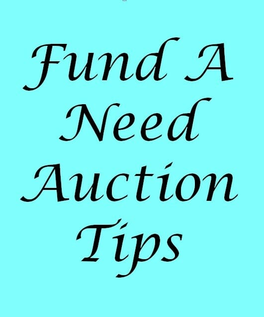 Fund a need auction for Auction advice