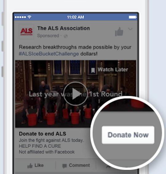 Facebook Donate Now Button