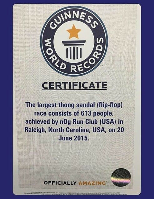 Flip Flop Run World Record