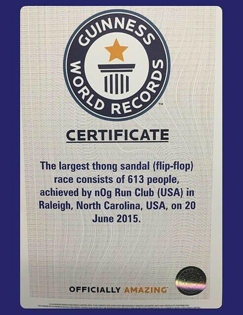 Flip Flop Run World Record