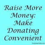 Make Donating Convenient