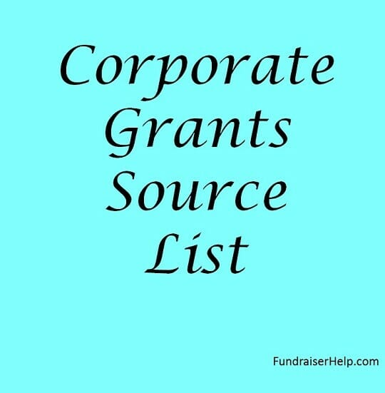 Corporate Grants Source List